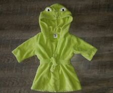 carters baby girls boys hooded froggy terry robe swim cover sz 0 9 months EUC