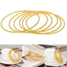 6 Pcs/Set Gold Newborn Baby Cute Children Kid Bangle Toddler Cuff Bracelets New