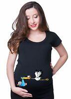 Maternity Tee Crane T-Shirt T shirts Mom Funny Maternity T Shirt Christmas Gift