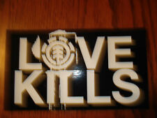ELEMENT CHAD MUSKA LOVE KILLS LOGO EXTRA LARGE SQUARE SKATEBOARD STICKER