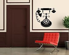 Wall Stickers Vinyl Decal Antique Vintage Retro Telephone ig1514