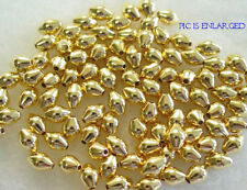 100 Gold Smooth Rounded Bicone Beads