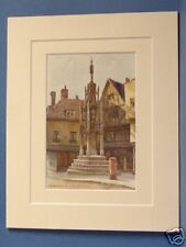 THE BUTTER CROSS WINCHESTER HAMPSHIRE VINTAGE MOUNTED