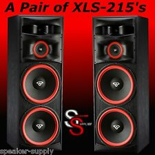 NEW PAIR (2) Cerwin Vega XLS-215 Home Theater Floor Standing Tower Speakers DJ