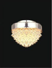 1:12 Scale Dolls House Working Ceiling Light With A Crystal Effect Shade 4009