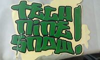 """SNOWBOARD, Really Cool Sticker, LARGE, 7-1/2"""" X  5"""""""