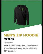 Monster Energy Mens zip up Hoodie