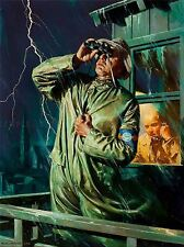 Paintings PORTRAIT Weather Storm lookout post Lightning Art Poster Print lv3432