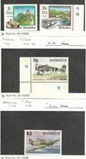 Barbados, Postage Stamp, #830-1, 844 Mint NH, 845 Used, 1992 Airplane, Bus