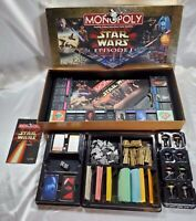 1999 Monopoly Star Wars Episode 1 Collectors Edition Game Complete