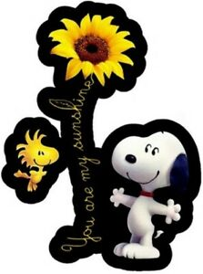 Snoopy Sunflower You Are My Sunshine Sticker Decal (Select your Size)