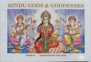 Hindu Gods & Goddesses Picturesque Postcards Booklet Containing 10 Postcards