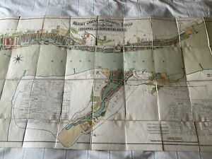 1922 MERSEY DOCKS & HARBOUR BOARD MAP/PLAN OF LIVERPOOL & BIRKENHEAD DOCKS