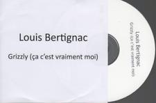 Louis Bertignac Grizzly CD PROMO pochette papier telephone insus