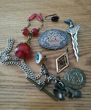 JOB LOT OF ANTIQUE JEWELLERY FOR SPARE REPAIR INCLUDING SILVER
