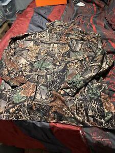"Xl Cabelas Mens Camouflage Seclusion 3D Long Sleeve Mock Turtleneck Shirt 31x25"""