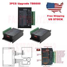 3pcs Tb6600 Stepper Motor Driver Controller 32 Segments Micro Step Cnc 24 Phase