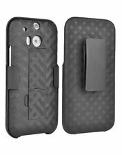 Verizon HTC One M8 Shell Holster Combo Case with Kickstand & Belt Clip OEM