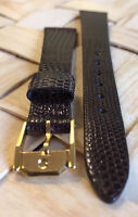 Lizard Skin Genuine MOVADO 13mm Brown Leather Watch Strap Band Retail $110.00