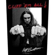 Metallica Official Backpatch Cliff 'em all Sew-On Back Patch Burton in Memory