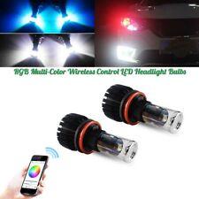 2X H8 H11 RGB LED Multi-color Bluetooth Control Bulbs For Headlights Hi/Low Beam