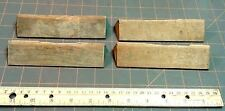 4 Wood Cabinet Pulls Maple Stripped No Screws Oblong Vintage Circa 1930
