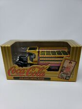 Coca Cola Die-cast Metal Bank ERTL Yellow/Red/Black Bottle Delivery Truck