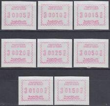 1989 Kuwait, **/MNH, Vending machine stamps, Automatenmarken ATM [sr3409]