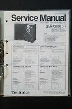 TECHNICS sb-x800 ORIGINALE SPEAKER Service-Manual/Service-manuale/Schema Elettrico!