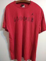 Vintage 90s Nike Air Jordan Spell out T Shirt Men's XL Red