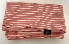 Ralph Lauren Chambray Red Striped Pinstripe Twin Flat Sheet Farmhouse Ticking