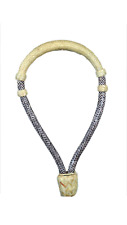 "Western Natural Rawhide Braided 5/8"" Bosal With Beveled Lacing"