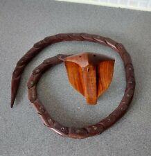 More details for antique wooden handmade indian jointed cobra snake
