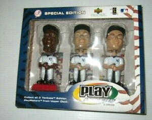 Upper Deck Play Makers NY Yankees 3 Bobbleheads (Jeter, Giambi, Williams)