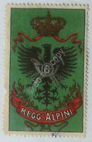 Erinnofilia - chiudilettera - 6° Reggimento Alpini - Regno d'Italia