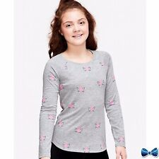 Justice Girls Size 10 Gray Unicorn Pattern Long Sleeve Tee New With Tags