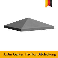 Garten Pavillon Abdeckung 3x3m Partyzelt 310g /m² Anthrazit Ersatzdach Plane Neu