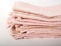 Pink Dusty Napkins Vintage Linen Avocado Dyed Table Kitchen Rustic Wedding Decor