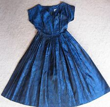 GENUINE 1950s TAFFETA COCKTAIL DRESS, size 10