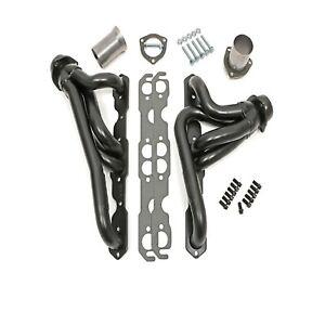"""Hedman Hedders 69670  Steel 1-1/2"""" Shortie Exhaust Headers for Jeep CJ5/CJ6/CJ7"""