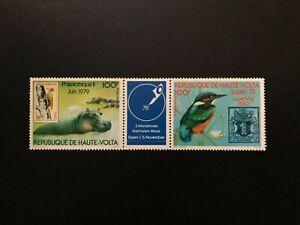 BURKINA FASO 1978 BIRDS , ANIMALS , Sc # c253 - c254 , MNH