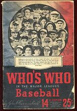 1946 Who's Who in Baseball Publication
