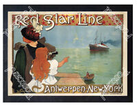 Historic Red Star Line, 1899 Shipping Advertising Postcard 2
