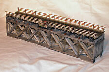 86' HOWE TRUSS DECK BRIDGE N Model Railroad Structure Wood Craftsman Kit HL109N