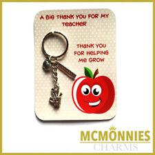 Teacher Gifts Thank You Leaving School Nursery Gift Key Ring Charm Keyring