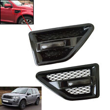 Fit LAND ROVER FREELANDER 2 SIDE VENTS - BLACK INC REPEATERS-SMOKED