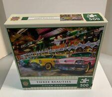 Three Beauties Cars Linda Berman 500 Piece Jigsaw Puzzle NIB New By Masterpieces