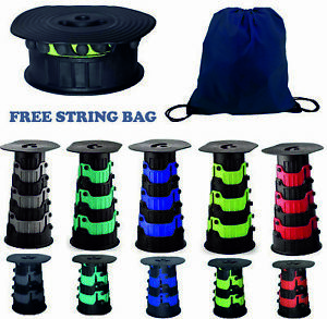 Telescopic Stool Foldable Collapsible Seats Fishing Camping Hiking Chair Step 🔥
