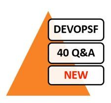 EXIN DevOps Foundation Test DEVOPSF Exam 40 Q&A PDF File!