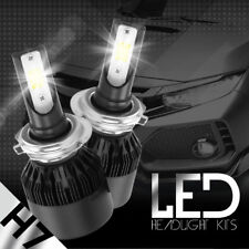 H7 8000K Ice Blue 8000LM CREE LED Headlight Bulbs Kit High Low Beam Fog Light
